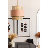 Plafondlamp in rotan satu, miniatuur afbeelding 1