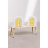 Mini Rainbow houten kinderbank, miniatuur afbeelding 4