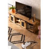 Uain Tv-meubel van mangohout, miniatuur afbeelding 2