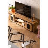 Uain Tv-meubel van mangohout, miniatuur afbeelding 1