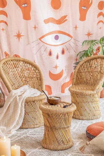 Set van 2 Ganon bamboe fauteuils