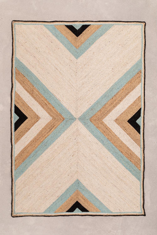 Natuurlijk jute vloerkleed (246x160 cm) Saina, galerij beeld 1