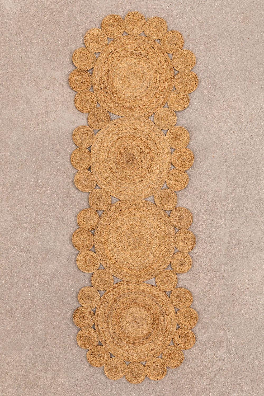 Vloerkleed van natuurlijk jute (180x60 cm) Otilie, galerij beeld 1