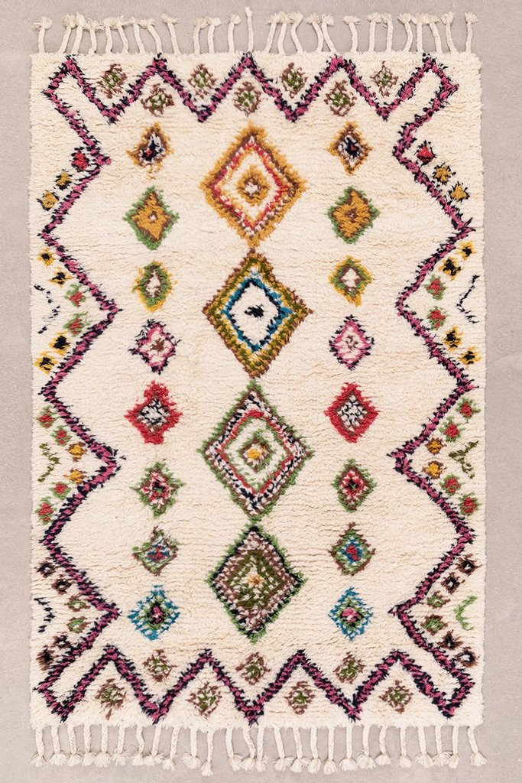 Vloerkleed van wol en katoen (239x164 cm) Mesty, galerij beeld 1