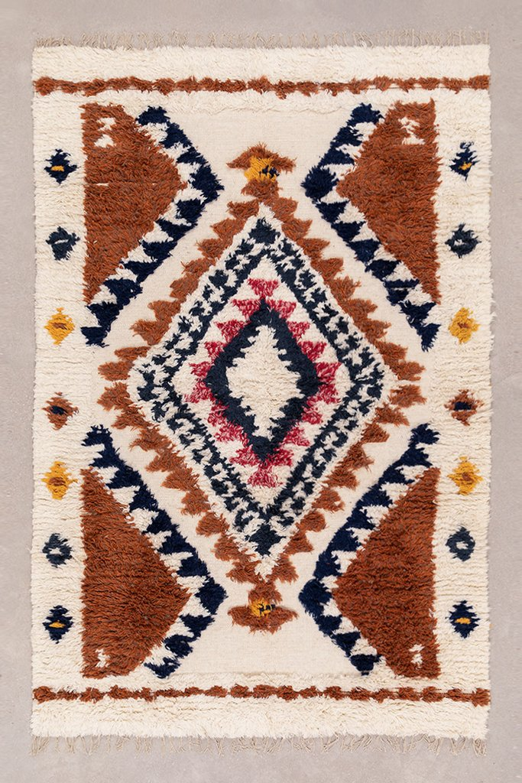 Vloerkleed van wol en katoen (246x165 cm) Rimbel, galerij beeld 1