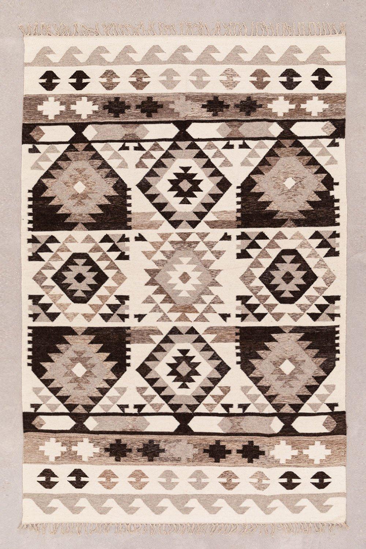 Vloerkleed van wol en katoen (252x165 cm) Logot, galerij beeld 1