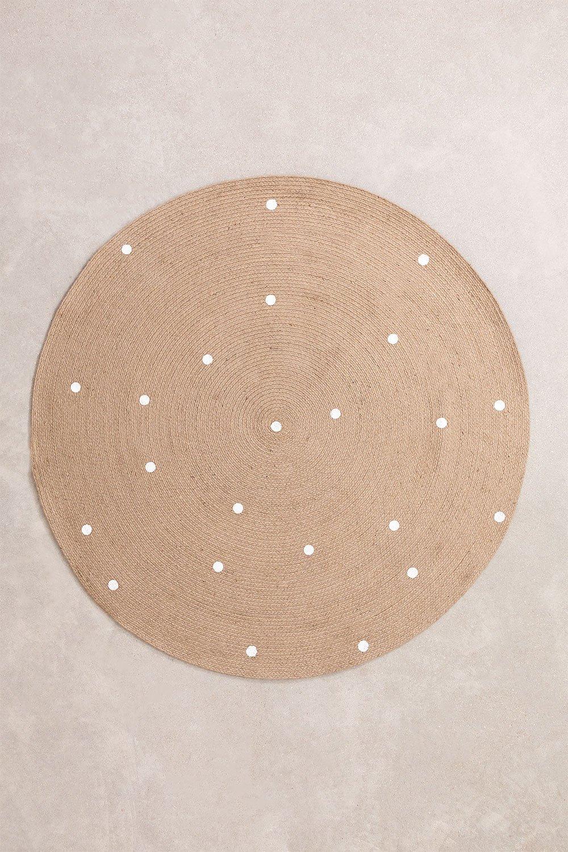 Rond vloerkleed van natuurlijk jute (Ø150 cm) Naroh, galerij beeld 1