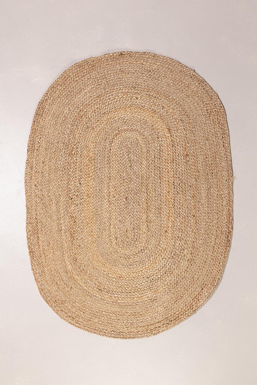 Ovaal natuurlijk jute vloerkleed (141x99,5 cm) Tempo, galerij beeld 1