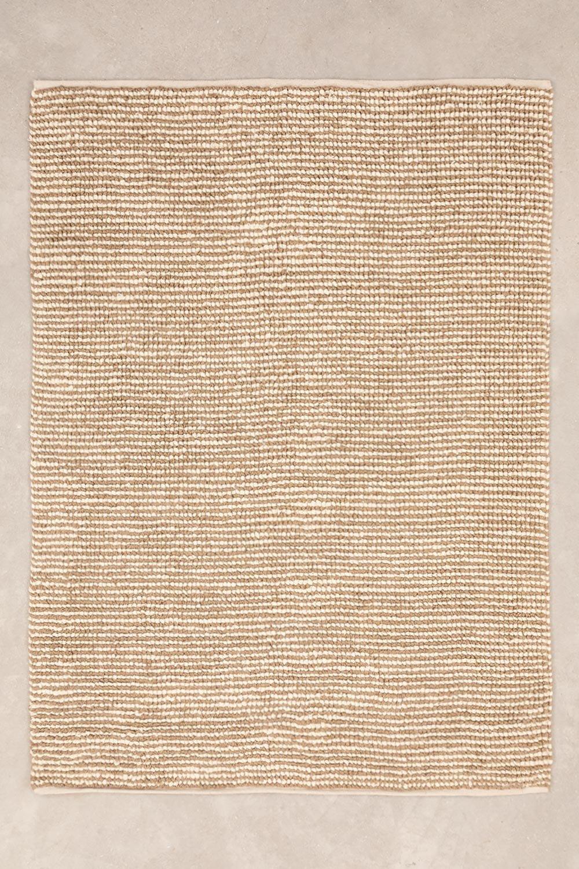 Jute en wollen vloerkleed (228x165 cm) Prixet, galerij beeld 1