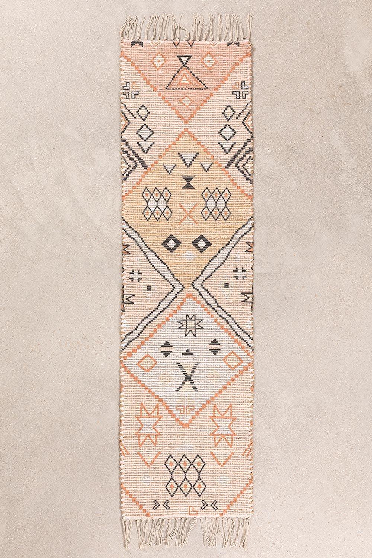 Gangtapijt in jute en stof (170x42,5 cm) Nuada, galerij beeld 1