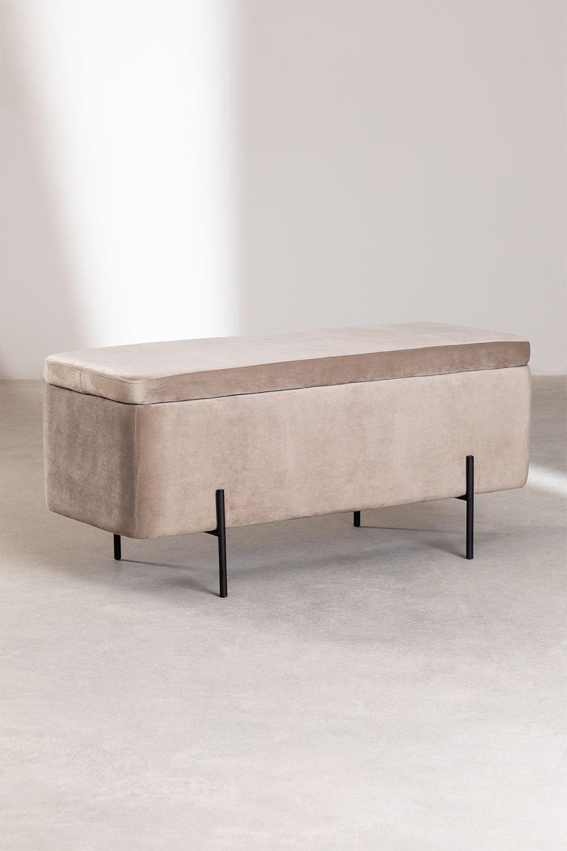 Trunk Bench in Velvet Sam, galerij beeld 1