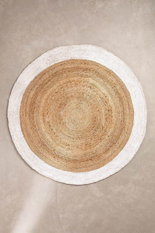 Rond vloerkleed van natuurlijk jute (Ø150 cm) Dagna, galerij beeld 1