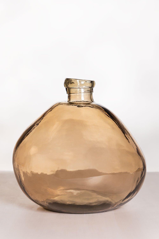 Damajuana vaas van gerecycled glas 33 cm Jound, galerij beeld 1