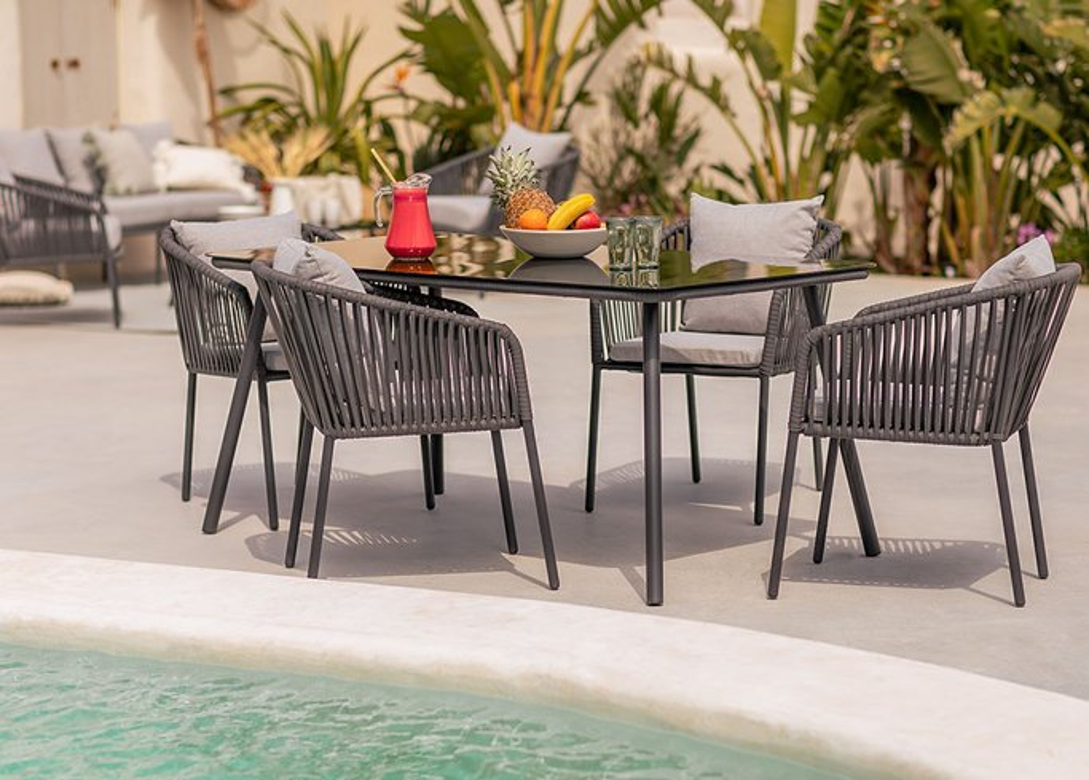 Set van 4 Arhiza Supreme stoelen & Arhiza tafel, galerij beeld 1