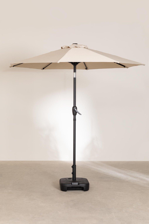 Parasol in stof en staal (Ø210 cm) Traun , galerij beeld 1