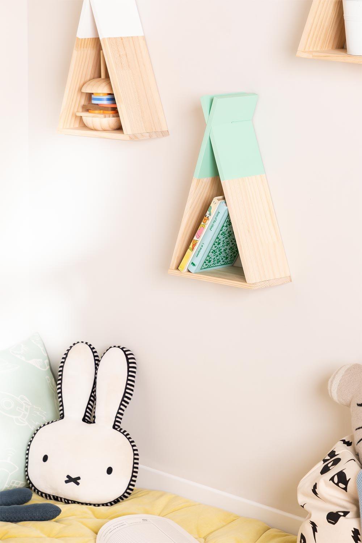 Sius Kids houten wandplank, galerij beeld 1