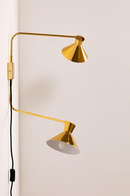 Wandlamp met dubbele kap Two, galerij beeld 1