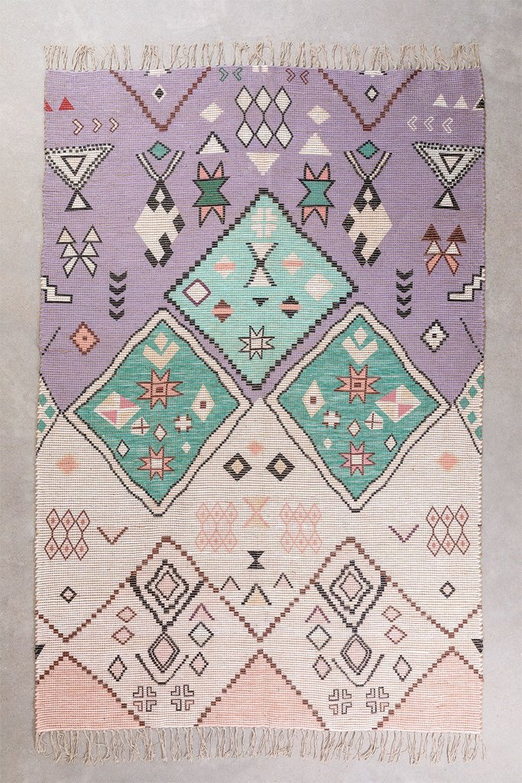 Jute en stoffen vloerkleed (274x172 cm) Nuada, galerij beeld 1
