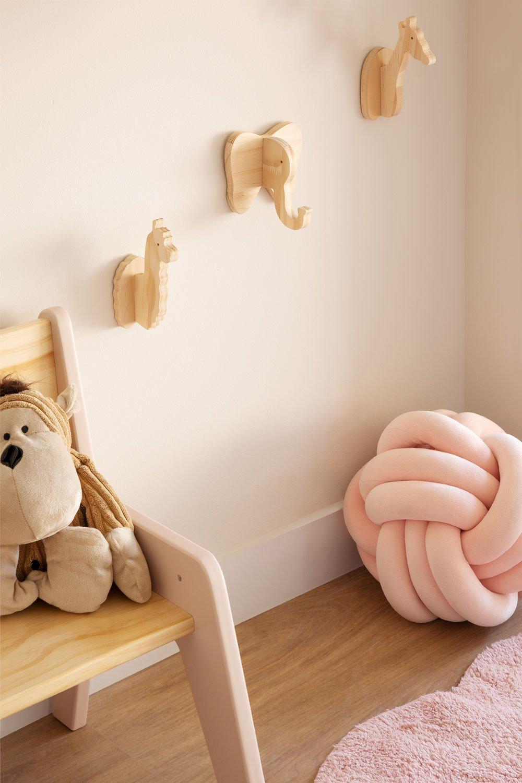 Pypa houten wandkapstok voor kinderen, galerij beeld 1