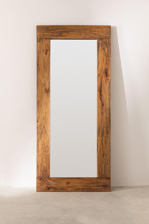 Spiegel van gerecycled hout (178,5x79 cm) Drev, galerij beeld 1