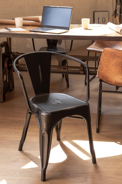 LIX Vintage stoel met armleuningen, galerij beeld 1