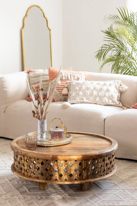 Riyad houten salontafel, galerij beeld 1