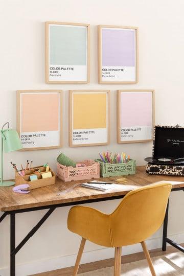 Decoratief blad (30x40 cm) kleurenpalet