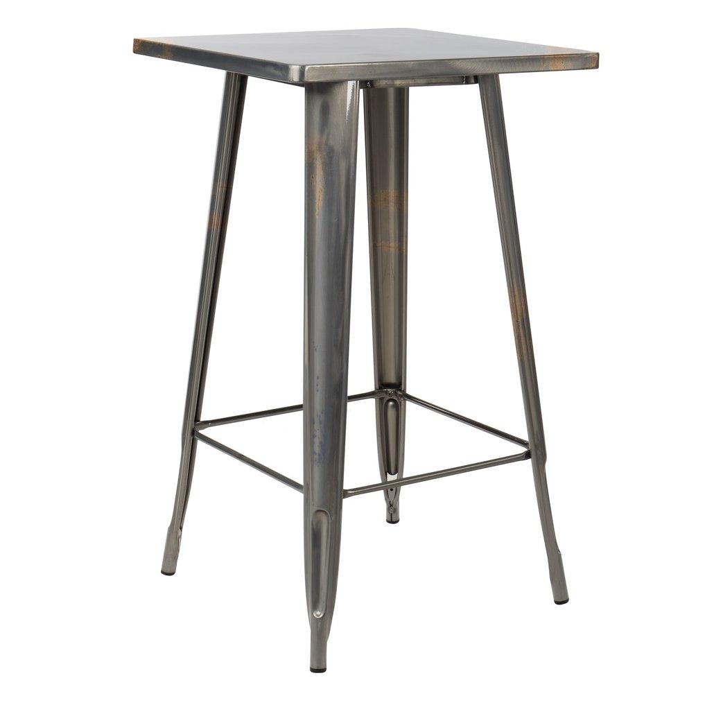 LIX hoge tafel geborsteld staal , galerij beeld 1