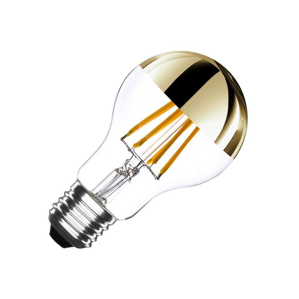 Bombilla LED E27 Regulable Filamento Gold Reflect A60 6W, galerij beeld 38476