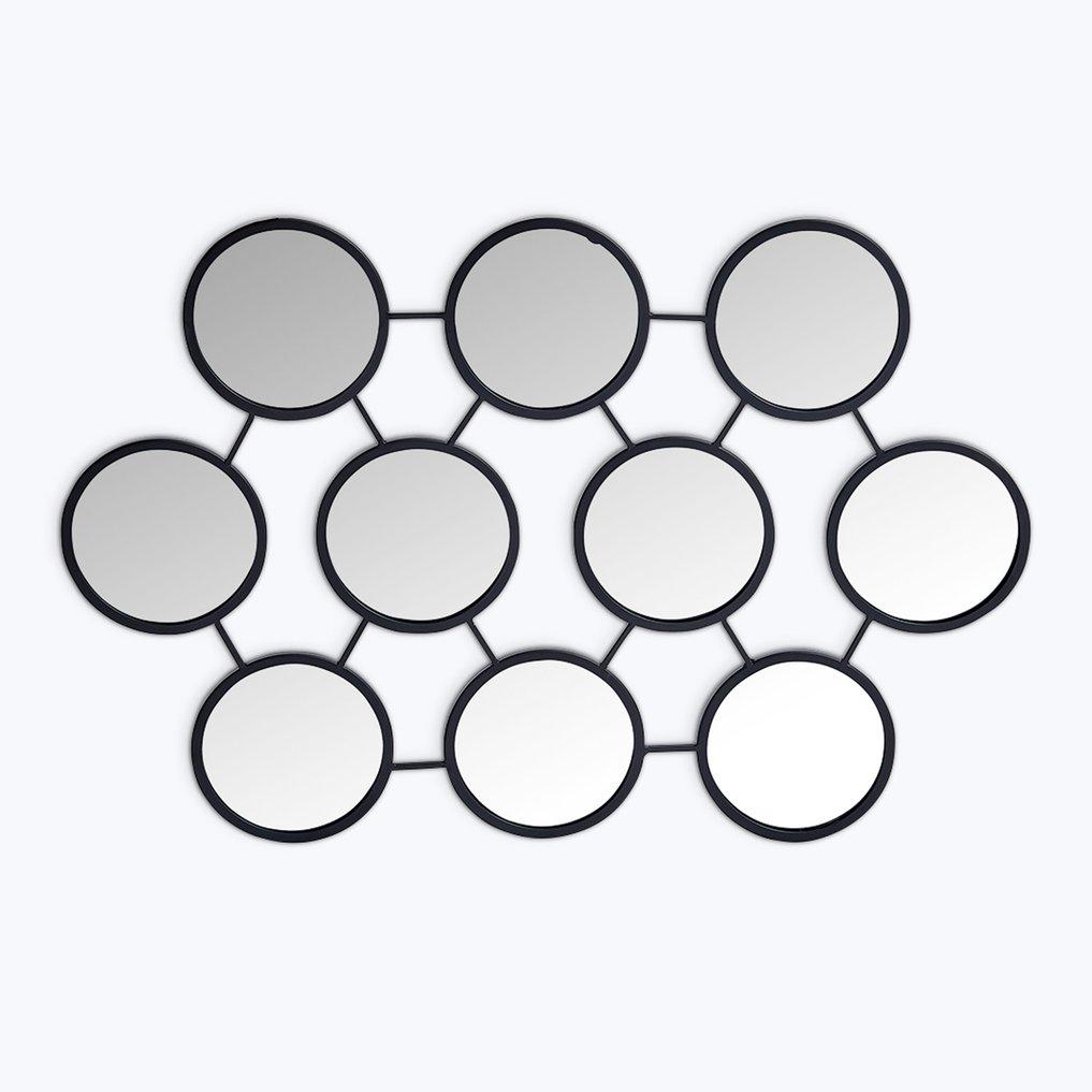 Metalen wandspiegel (55,8x83,5 cm) Favus, galerij beeld 1