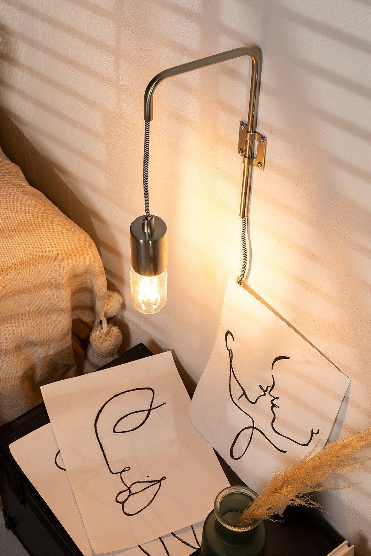 Alli metalen wandlamp, galerij beeld 1