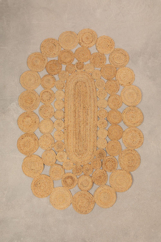Ovaal jute vloerkleed (178x120 cm) Dantum, galerij beeld 1