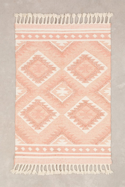 Vloerkleed van wol en katoen (211x143 cm) Roiz, galerij beeld 1