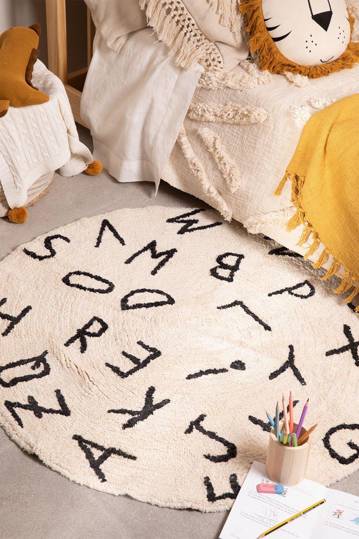Rond katoenen vloerkleed (Ø104 cm) Letters Kids, galerij beeld 1