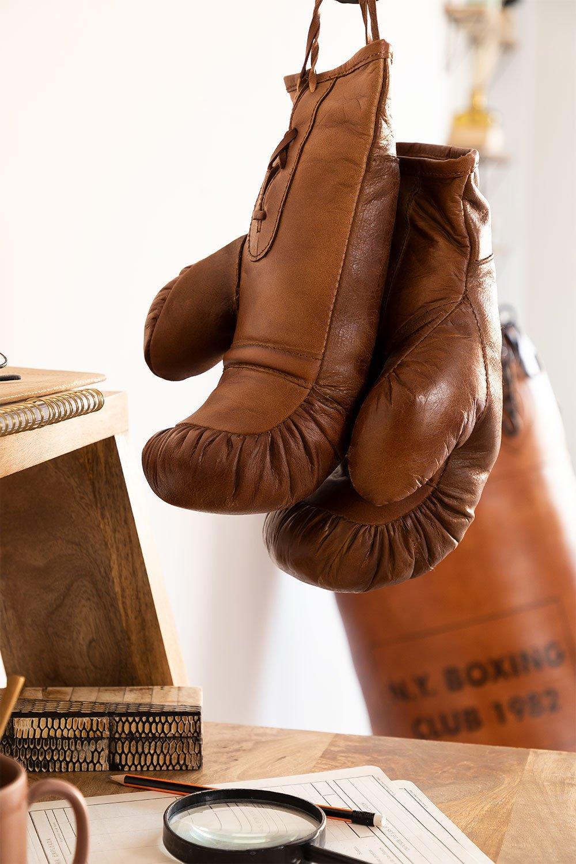 Nate lederen bokshandschoenen, galerij beeld 1