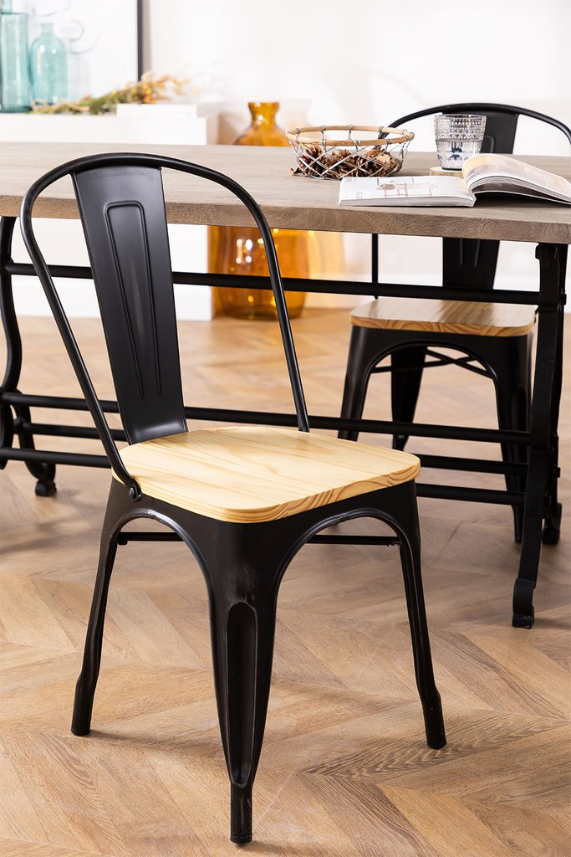 LIX houten vintage stoel, galerij beeld 1