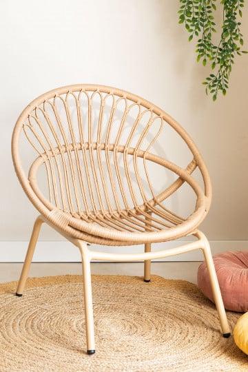 Kletta fauteuil van synthetisch rieten