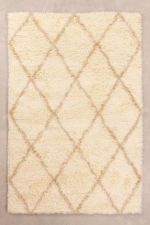Katoenen en wollen vloerkleed (237x157 cm) Kailin, galerij beeld 1