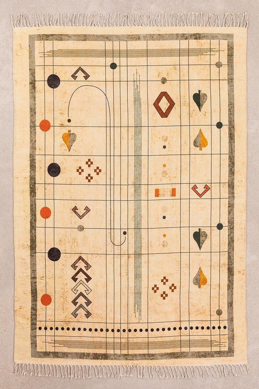 Katoenen vloerkleed (180x123 cm) Grafisch, galerij beeld 1