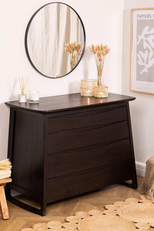Somy teakhouten dressoir, galerij beeld 1