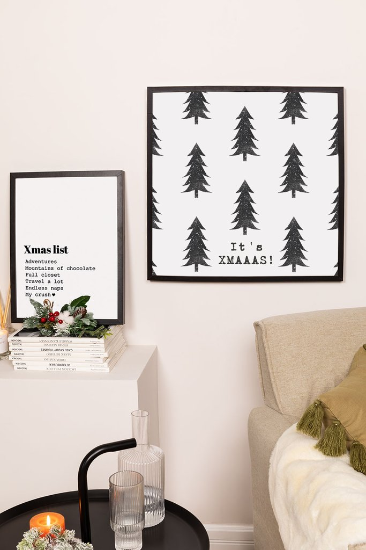 Set van 2 decoratieve kerstborden (50x50 en 30x40 cm) Wyrty, galerij beeld 1