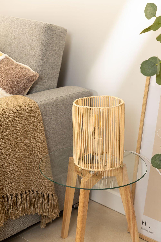 Khumo bamboe tafellamp, galerij beeld 1