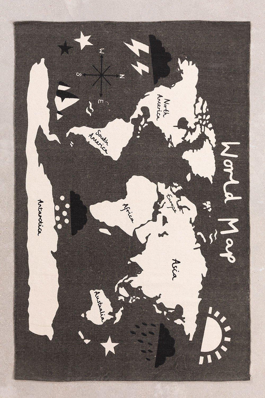 Katoenen vloerkleed (180x120 cm) Map, galerij beeld 1