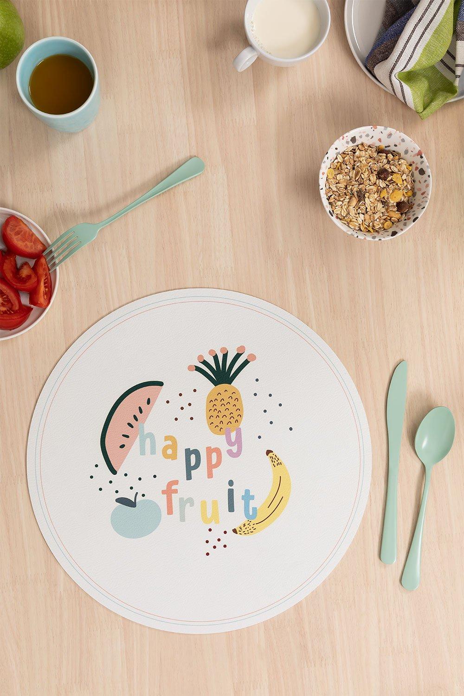 Fruti Kids ronde vinyl placemat, galerij beeld 1