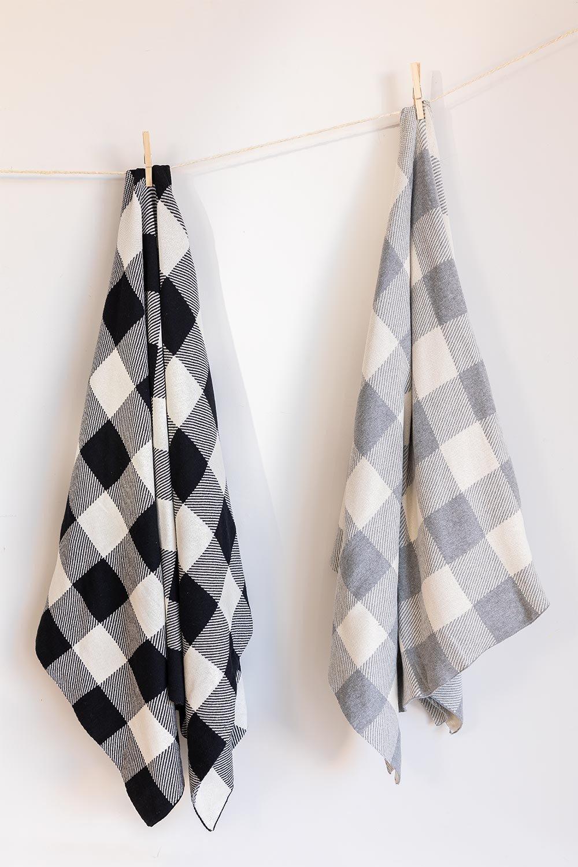 Kalai katoenen plaid deken, galerij beeld 1
