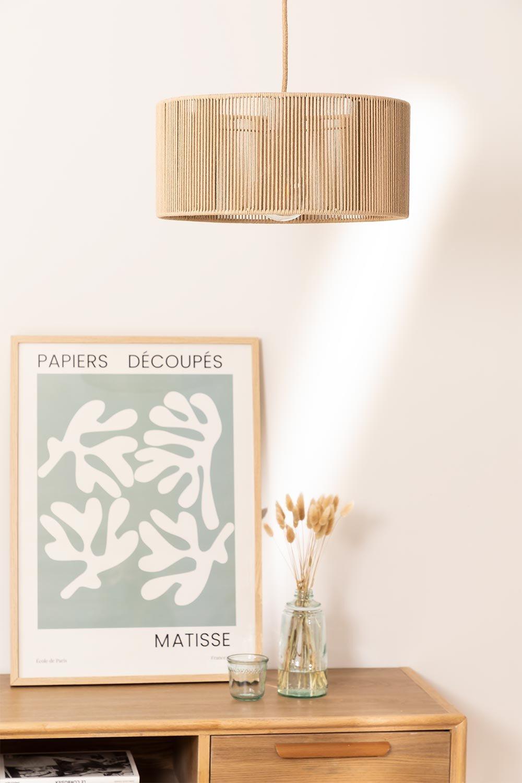 Uillo nylon touw plafondlamp, galerij beeld 1