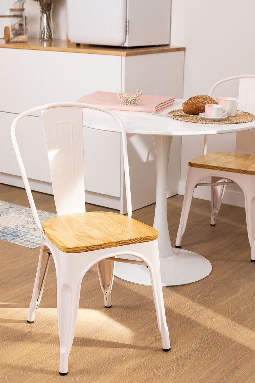 LIX houten matte stoel , galerij beeld 1