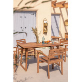 Mesa de jardim retangular em madeira teca (140x80 cm) Sushan, imagem miniatura 1