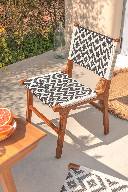 Cadeira de jardim em madeira teca Vana , imagem de galeria 1