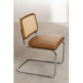 Cadeira de jantar em couro vintage Tento, imagem miniatura 4